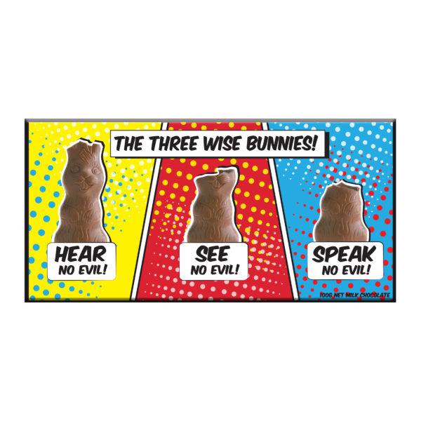 634 - Three Wise Bunnies
